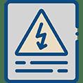 Icône représentant la prévention sécurité de 2SE Conseils: Un triangle attention sur une affiche de prévention